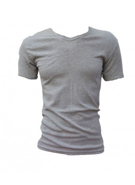 MEN'S T-SHIRT SLEEVE SHIRT WITH COLLAR V